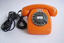 70er Vintage Post Telefon FeTAp 611-2 Wählscheibentelefon Retro orange 70s