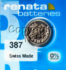 1pc Renata 387S Watch Battery 387 Bulova Accutron 214 With SPACER RING 0%MERCURY