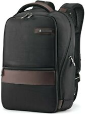 Samsonite Kombi Small Business Backpack with Smart Sleeve, Black/Brown *NEW*