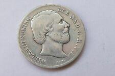 """1 Gulden Niederlande 1861 """"König Wilhelm III"""", silver coin"""
