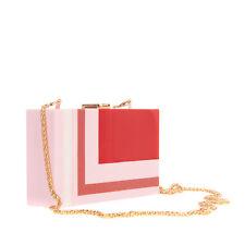 New ListingSilvian Heach Crossbody Clutch Bag Hard Case Detachable Chain Strap Snap Clasp