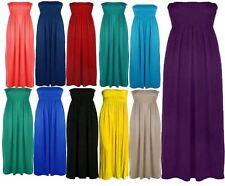Womens Plus Size Boob Tube Maxi Stretch Sheering Summer Beach Maxi 8-26