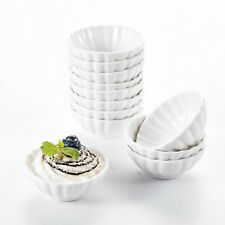"12X 3"" MINI Ramekins Cream White Porcelain China Ceramic Snack Dishes Set Home"
