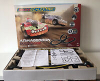 Micro Scalextric 'Armageddon Rampage' Red Rampage & Silver Storm Great Condition