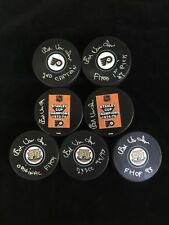 ED VAN IMPE PHILADELPHIA FLYERS AUTOGRAPHED PUCK YOUR CHOICE YOU PICK ONE W/COA