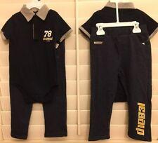 NWT Diesel Baby Boy 24 Months 2PC SET Navy & Grey Polo Romper W/Diesel Jeans $59