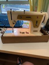 Vintage Singer Sewing Machine Model 237 with Foot Pedal and Hard Case