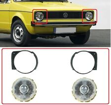 VW Golf MK1 1974-85 Front Headlights AND Grille Rings SET LEFT + RIGHT NEW 4PCS