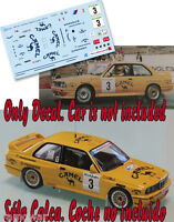 Decal 1:43 Jose Maria Ponce - BMW M3 - Rally El Corte Ingles 1992