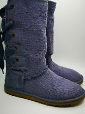 UGG K Heirloom lace up boots purple/ lavender NEW size UK 5 (EU36).