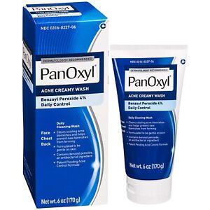 PanOxyl Acne Creamy Wash Benzoyl Peroxide 4% Daily Control - 6oz