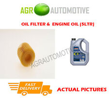PETROL OIL FILTER + C1 5W30 ENGINE OIL FOR TOYOTA VERSO 1.8 147 BHP 2009-
