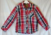 Boys Next Red Blue White Check Adjustable Length Long Sleeve Shirt Age 5 Years