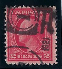 1917-19 U.S. Scott 500 2c deep rose TY Ia Washington-Franklin used w/Weiss CERT