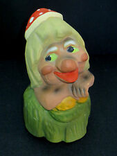 Vintage Enesco 1979 Dated MOTHER GNOME BANK Woman UGLY Red Polka Dot  Hat