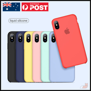 Liquid Silicone Case Microfibre Shockproof Soft Cover for iPhone Xs X Max Xr