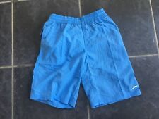 Speedo Boys Swimming Shorts Size Small 6-7 Years Blue Quick Dry