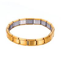 Armband Nomination Charming Edelstahl Armreif Unisex Elastisch Silberfarben