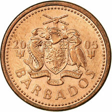 [#707615] Coin, Barbados, Cent, 2005, Royal Canadian Mint, EF(40-45), Copper