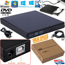 External USB 2.0 Slim IDE CD DVD ROM DVD Drive Caddy Cover Case Notebook Laptop