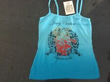 NWT Juicy Couture New & Genuine Ladies Small Blue Cotton Camisole & Juicy Logo