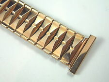 "Mint Unused 10K Pink gold filled Bowtie watch band EE Made in USA 3/4"" 19mm"