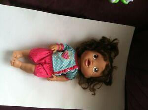 2012 Hasbro Baby Hispanic Brunette Doll English  & Spanish works