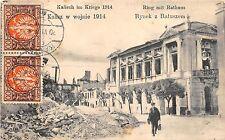 BC60761 Poland Kalisz Kalisch im Kriege 1914 Ring mit Rathaus
