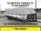 NEW VORTEX COMBO PACK BEIGE 20 FT ULTRA PONTOON/DECK BOAT COVER+SUPPORT SYSTEM