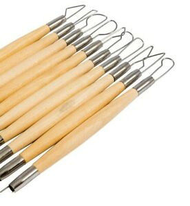 """Jakar Wooden Clay Pottery Modelling Tool Kit 6"""" Wire Double Ended Set Art Craft"""