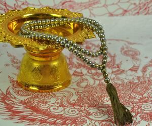 108 Beads Silver Mala Necklace Prayer Praying Leklai Thai Amulet jewelry Bead
