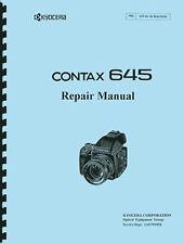 Yashica / Kyocera Contax 645 Camera Service & Repair Manual