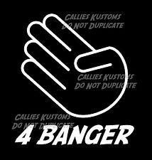 4 BANGER Crude adult Humor Funny Car & Truck Window Vinyl Decal sticker