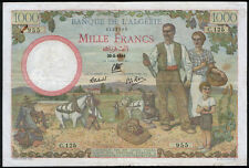 Algeria P 86 - 1000 Francs 1941 - VF