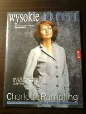 Polish Magazine Wysokie Obcasy front CHARLOTTE RAMPLING