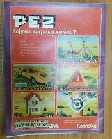 PEZ NEWSPAPER COMMERCIAL ADVERTISEMENT PRIZE GAME Yugoslavia 1973 RARE