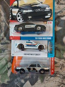 Hotwheels Matchbox Mustang Lot Of 3 Police