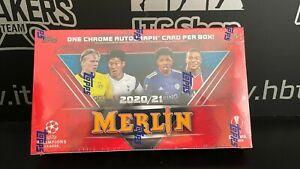 2020-21 Topps Chrome Merlin Soccer Hobby box