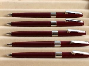 Lot of 5 Pc Sheaffer Imperial Ball Pen Burgundy Made In USA