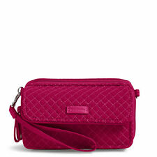 VERA BRADLEY ICONIC RFID ALL IN ONE Pink SMARTPHONE Crossbody Handbag