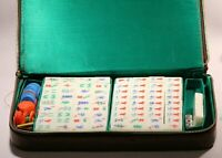 Vintage  Chinese Mah-Jong 144 + 4 Tiles Game Set With Box (No bottom)