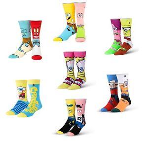 Odd Sox Spongebob Squarepants Socks - Patrick / Mr Krabs / Squidward - New