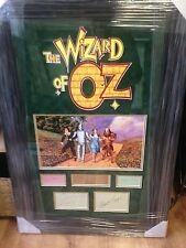 WIZARD OF OZ JUDY GARLAND RAY BOLGER JACK HALEY BERT LAHR   SIGNED MONTAGE AFTAL