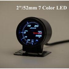 "Universal 2""/52mm 7Color LED Car Meter BOOST Gauge Turbo Skyline For WRX EVO MPS"