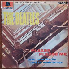 THE BEATLES PLEASE PLEASE ME 1ST ISRAELI PRESS MONO YELLOW PARLOPHONE LP