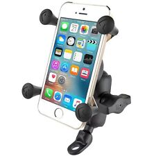 RAM 9mm Motorcycle Angled Base Mount with X-Grip Cradle fits iPhone 6S Plus