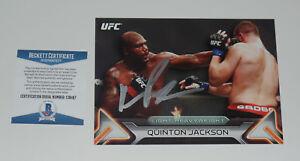 QUINTON JACKSON SIGNED AUTO'D UFC 2016 TOPPS KNOCKOUT 5X7 CARD #/49 BAS COA 67