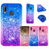 For HUAWEI HONOR 7A 8A  7S 10 LITE 10I Quicksand Liquid Glitter TPU Case Cover