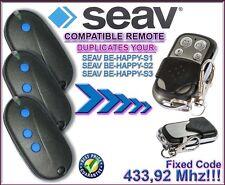 SEAV BE HAPPY S1, BE HAPPY S2, BE HAPPY S3 compatible remote control / CLONE