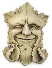 """Green Man"" Sculpture - Aged Stone Finish"